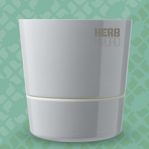 Herb Hydro Pot Grey