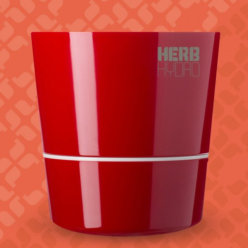Herb Hydro Pot Red